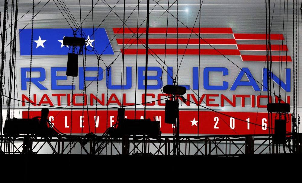 The Republican National Convention kicks off at the Quicken Loans Arena in Cleveland on Monday. (Carolyn Kaster/AP)