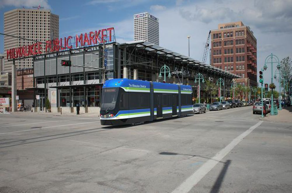 An artist's rendering of the Milwaukee Streetcar. (Photo Courtesy of The Milwaukee Streetcar)
