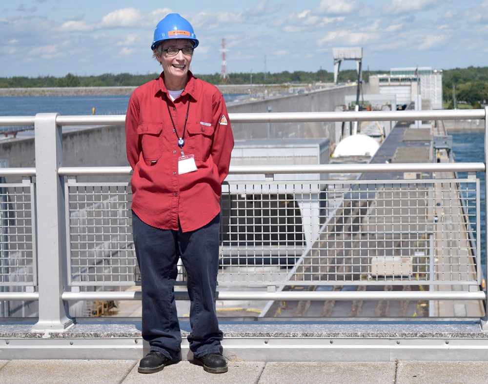 Nancy LaBaff, the first female senior operator at the Moses-Saunders dam. (Courtesy of Brit Hanson/North Country Public Radio)