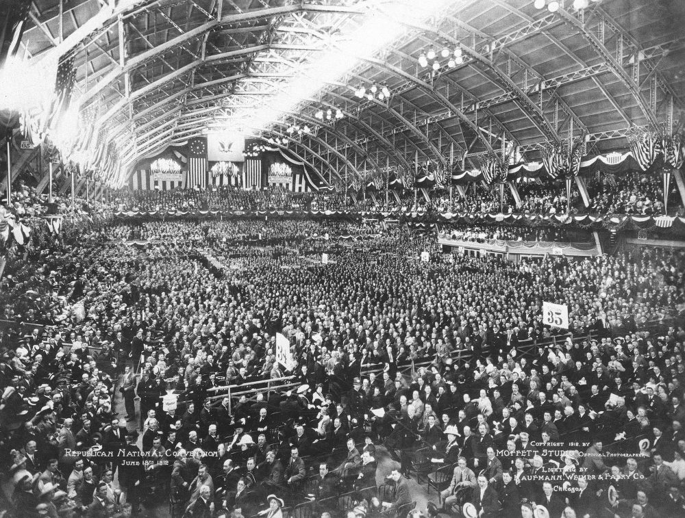A view of the 1912 Republican National Convention at the Chicago Coliseum. (AP)