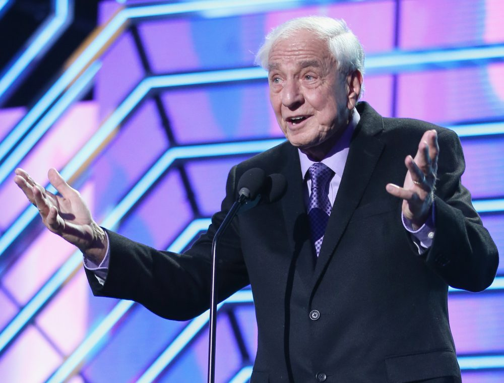 Actor Garry Marshall presents the Timeless Icon Award onstage during the 2016 TV Land Icon Awards at The Barker Hanger on April 10, 2016 in Santa Monica, California.  (Joe Scarnici/Getty Images for TV Land)