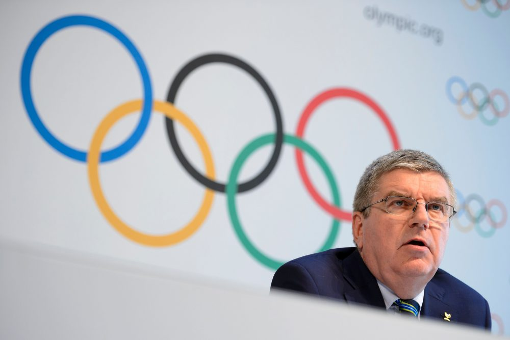 """Following the release of a report on Russia's state-sponsored doping program, International Olympic Committee president Thomas Bach said the organization """"will not hesitate to take the toughest sanctions available against any individual or organisation implicated."""" (Fabrice Coffrini/AFP/Getty Images)"""