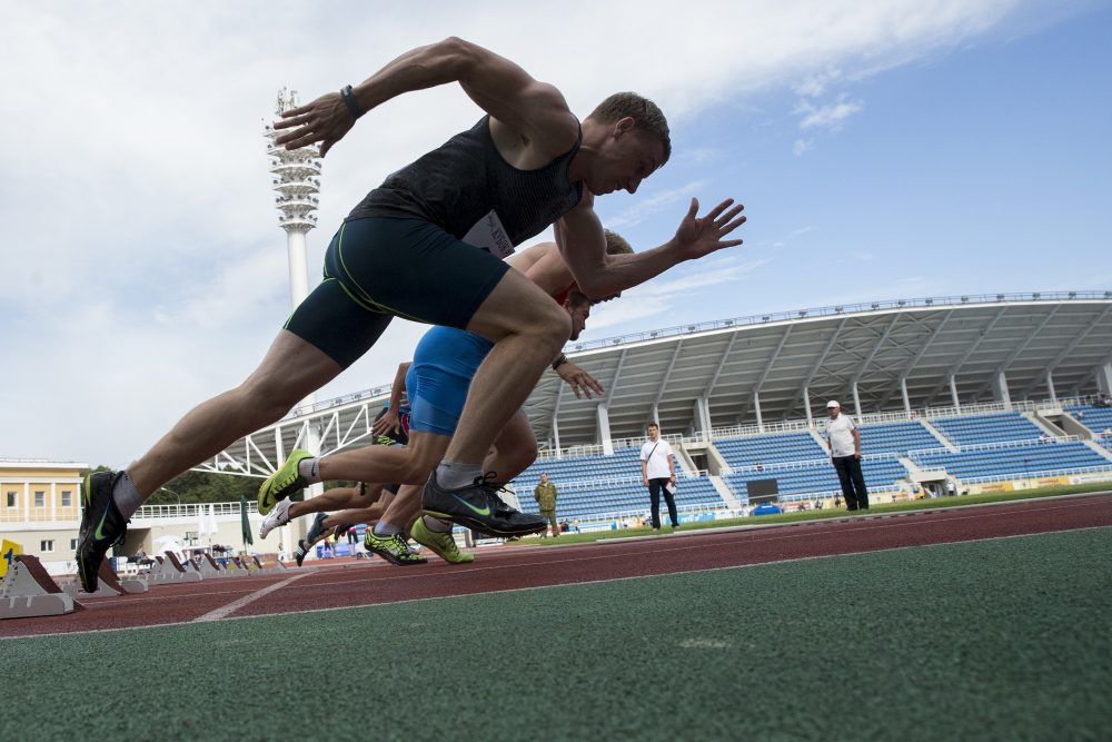 Russian athletes compete in the Russian Cup athletics competition in Zhukovsky, near Moscow, Russia, Wednesday, July 20, 2016. (Pavel Golovkin/AP)