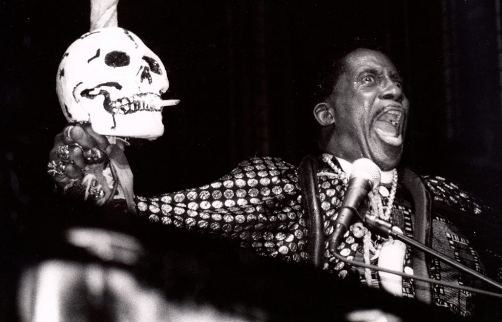 Cleveland native Screamin' Jay Hawkins performs during a concert in Switzerland in the 1990s. (memibeltrame/Flickr)
