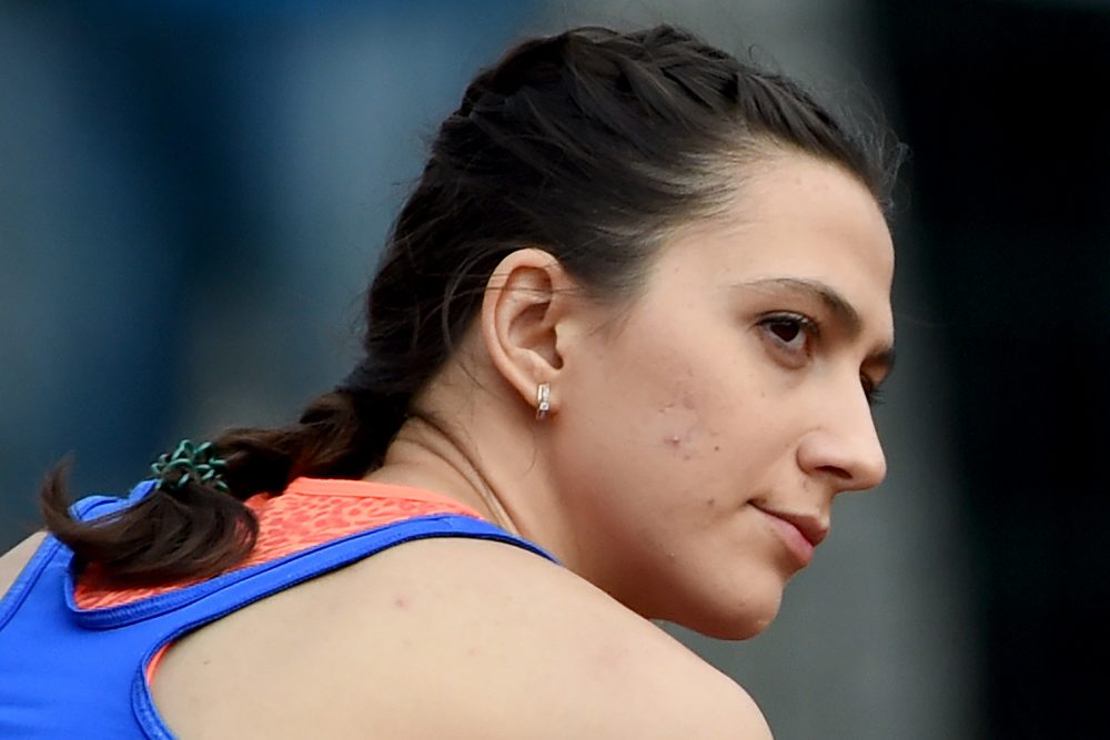 Russian high jumper Mariya Kuchina, gold medalist at the 2015 World Championships, is among the athletes unable to compete for Russia at Rio. (Vasily Maximov/AFP/Getty Images)