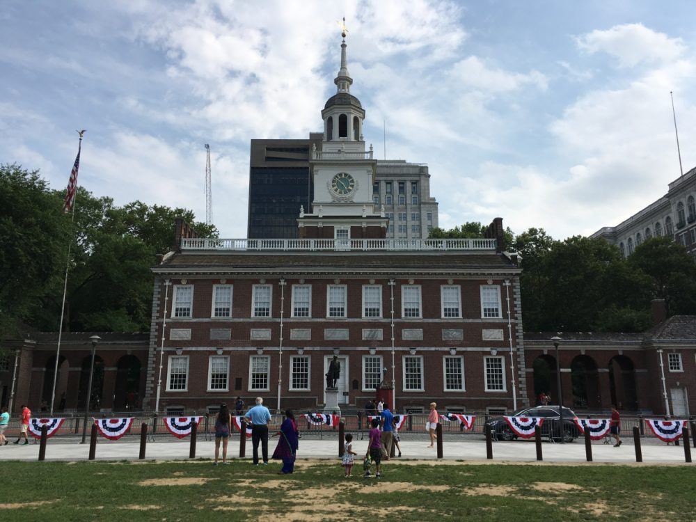 Independence Hall in Philadelphia. The city is hosting the Democratic National Convention. (Alex Ashlock/Here & Now)