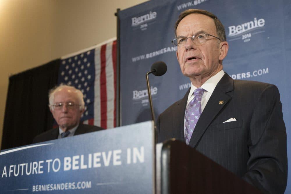 Former DNC Chair and former Sen. Paul Kirk, a Democrat from Massachusetts, endorsed Sen. Bernie Sanders back in January. (John Minchillo/AP)