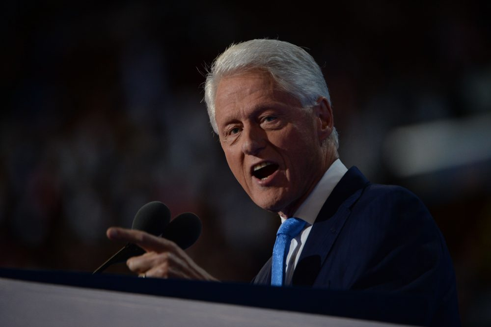 Former President Bill Clinton speaks on day two of the Democratic National Convention at the Wells Fargo Center, July 26, 2016 in Philadelphia. (Robyn Beck/AFP/Getty Images)