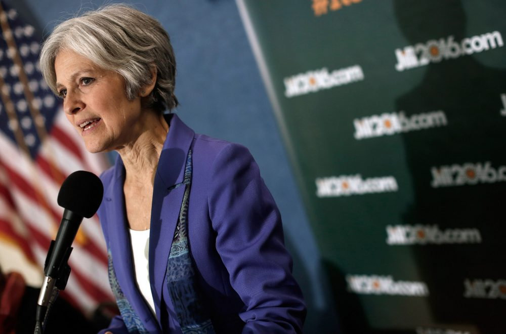 Green Party presidential nominee Jill Stein speaks at the National Press Club on Feb. 6, 2015 in Washington, D.C. (Win McNamee/Getty Images)
