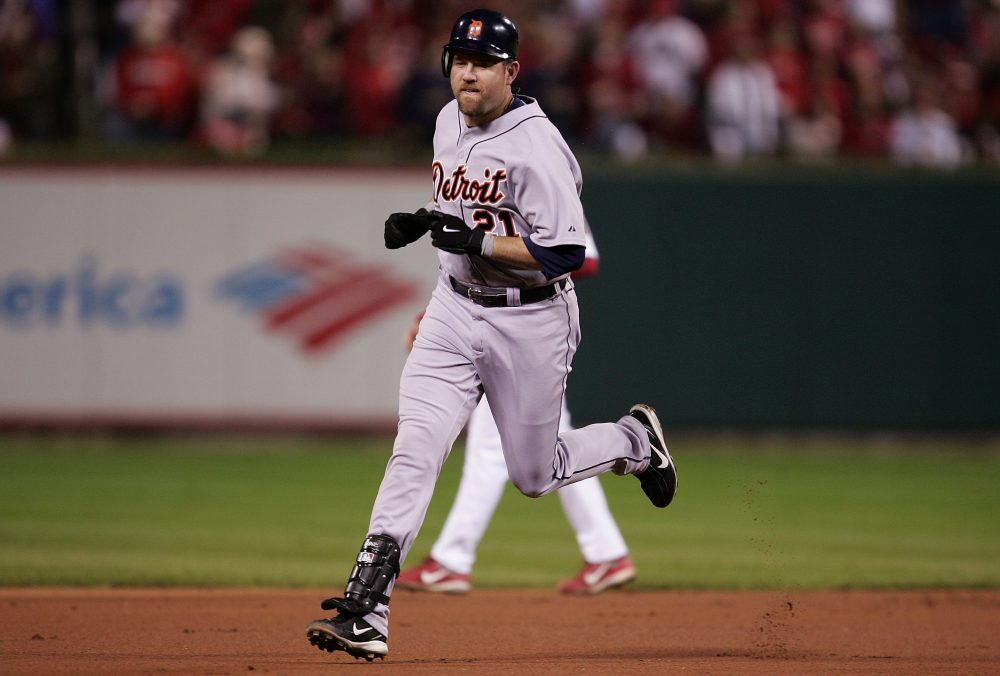 Sean Casey rounds the bases after hitting the first of his two home runs from the 2006 World Series. (Jonathan Daniel/Getty Images)