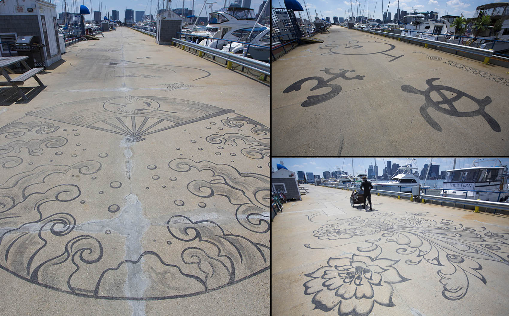 """58553bf2f """"Connected by Sea"""" consists of designs that point out different places  around the world """""""