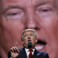 Republican Presidential Candidate Donald Trump, speaks during the final day of the Republican National Convention in Cleveland, Thursday, July 21, 2016. (Carolyn Kaster/AP)