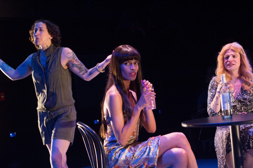 From left to right: Jade Sylvan, David J. Castillo and Alex Jacobs. (Courtesy Paul Fox/Company One Theatre)