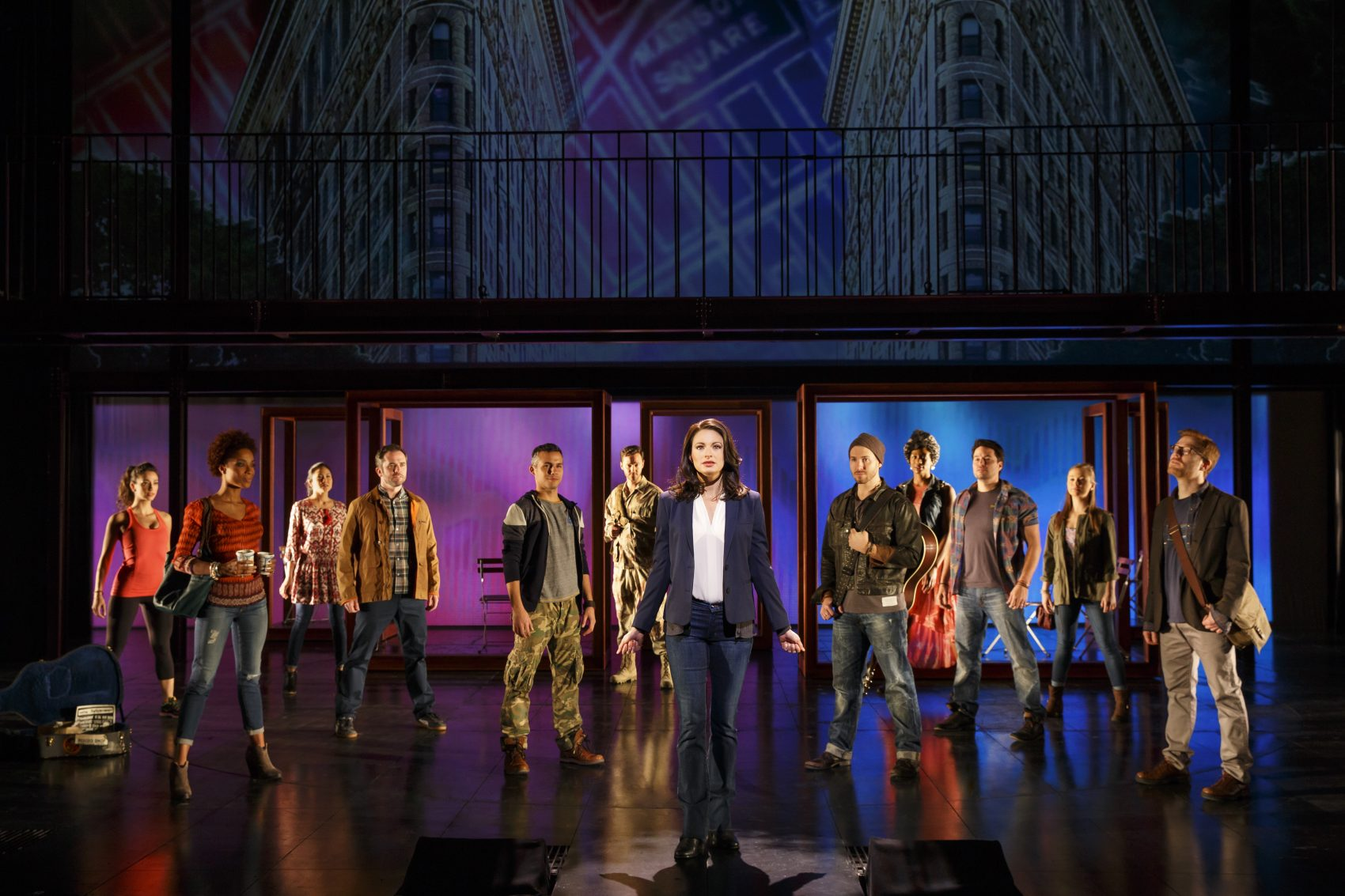 """The ensemble of """"If/Then."""" (Courtesy Joan Marcus/Broadway in Boston)"""