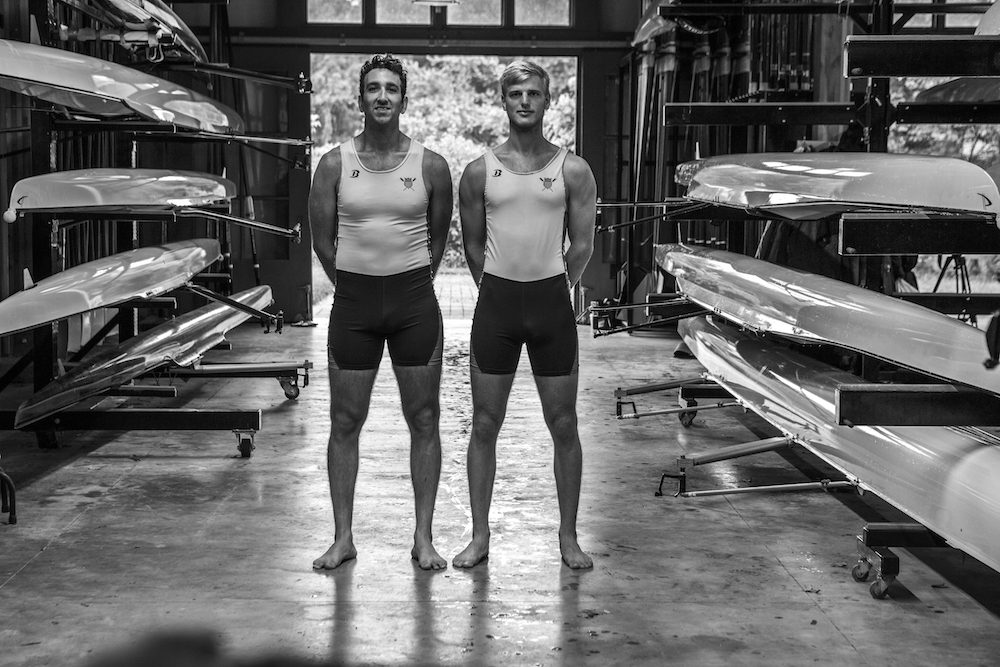 Anders Weiss (right) and Nareg Guregian (left) will race as the men's pair for Team USA in Rio. (Benoit Cortet/US Rowing)