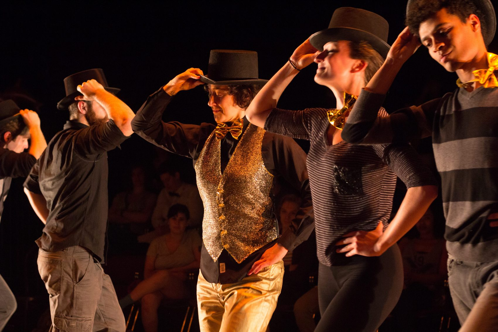 """The ensemble of """"The T Party"""" at Company One Theatre. (Courtesy Paul Fox/Company One Theatre.)"""
