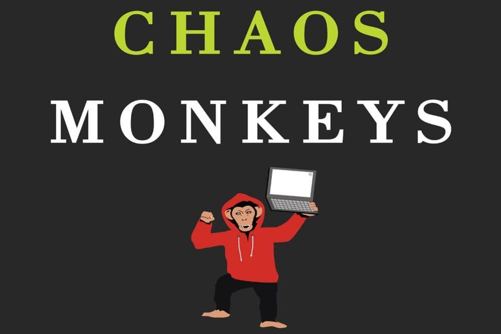 "A portion of the cover of Antonio Garcia Martinez's new book, ""Chaos Monkeys."" (Courtesy  Harper)"