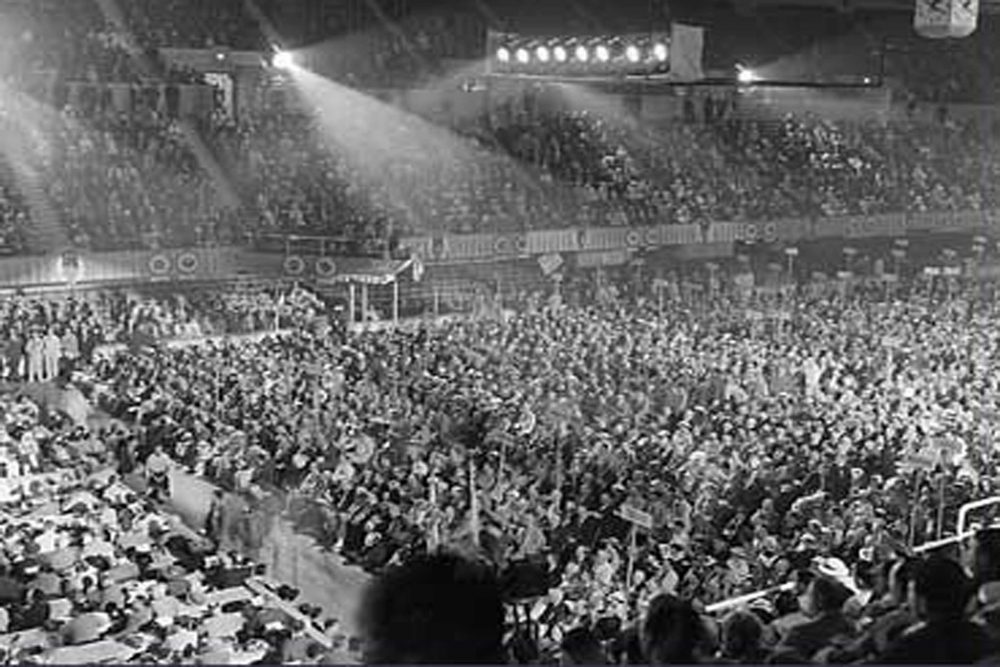 The 1936 Democratic National Convention opens in Philadelphia, PA  on June 23, 1936. (Courtesy Philadelphia Record Photograph Collection)