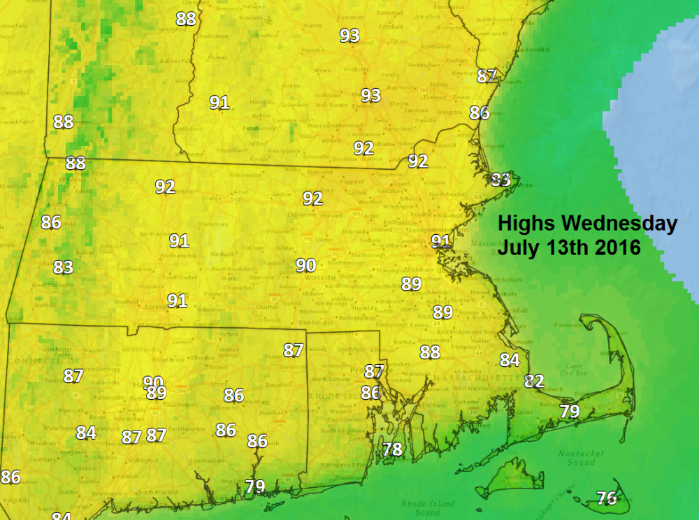Forecast: Heat And Humidity Continue Through Friday | WBUR News