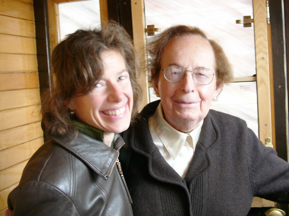 Author Susan Faludi with her father, Stefi, in Budapest in 2010, after Stefi had transitioned. (Photo courtesy Russ Rymer)
