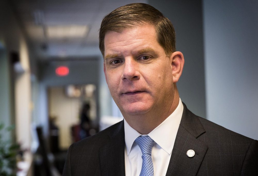 Boston Mayor Marty Walsh, at WBUR. (Robin Lubbock/WBUR)