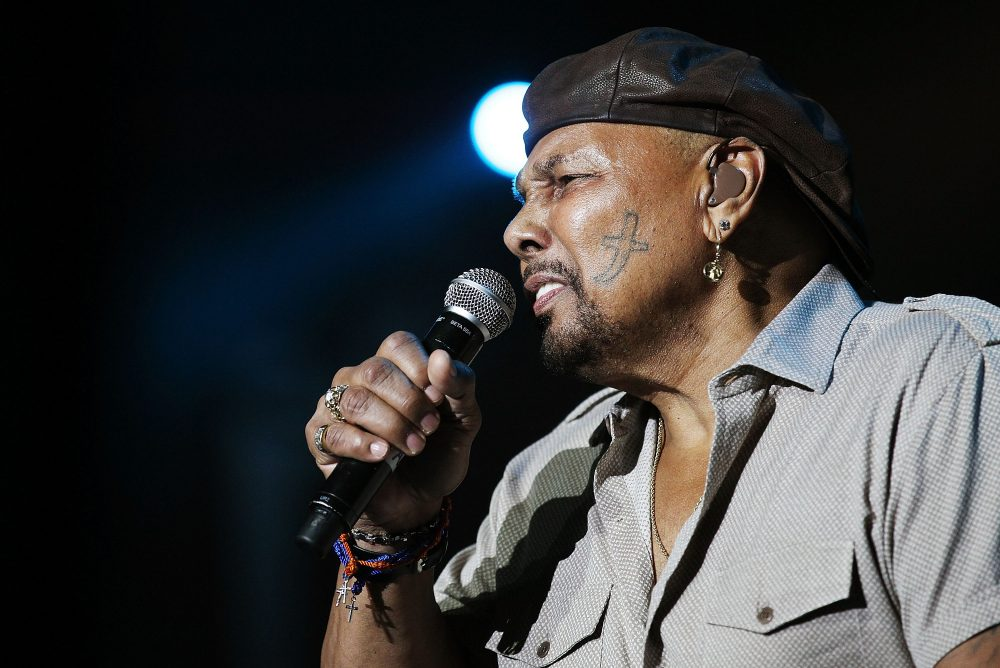 Aaron Neville performs on stage during a music festival on April 24, 2011 in Byron Bay, Australia. (Mark Metcalfe/Getty Images)
