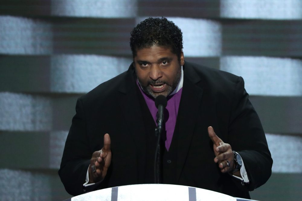 Rev. William Barber delivers remarks on the fourth day of the Democratic National Convention at the Wells Fargo Center, July 28, 2016 in Philadelphia. (Alex Wong/Getty Images)