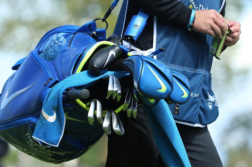 7a7d725b32bc1 The Nike golf clubs and bag of Denmark s Thorbjorn Olesen during a  tournament in Ireland.