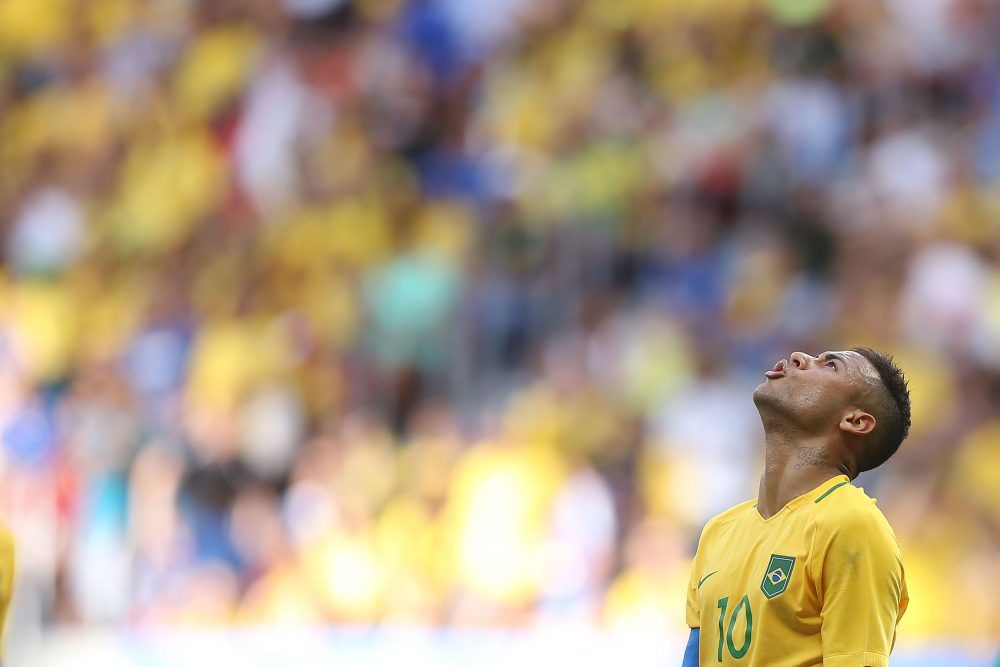 Neymar will lead the charge for Brazil's Olympic soccer squad, which has a chance to put the team's harrowing World Cup 2014 exit in the past. (Celso Junior/Getty Images)