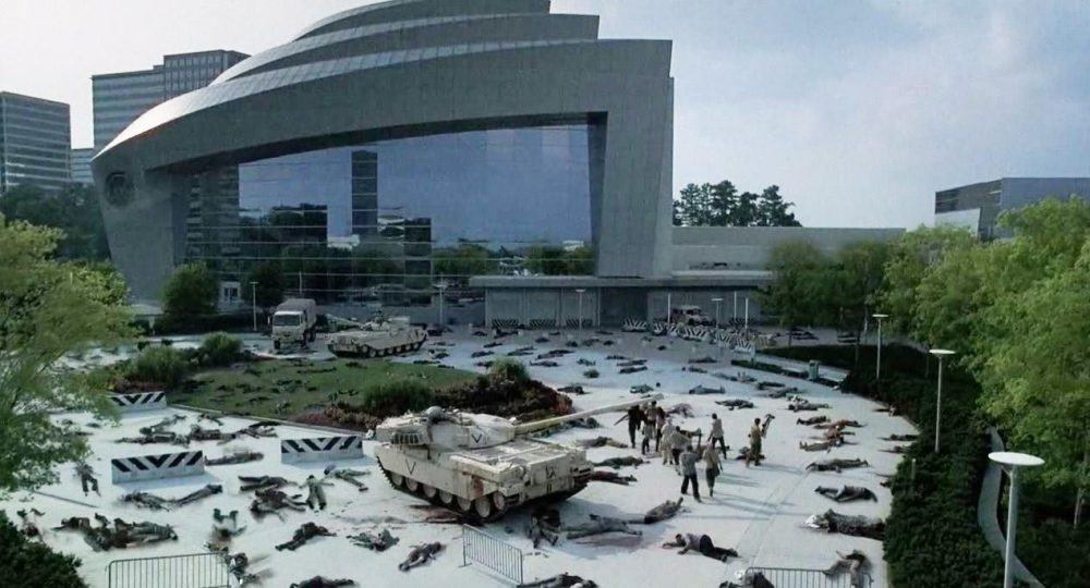 """A scene featuring the Centers for Disease Control and Prevention in the TV show """"The Walking Dead."""" (Courtesy of AMC)"""