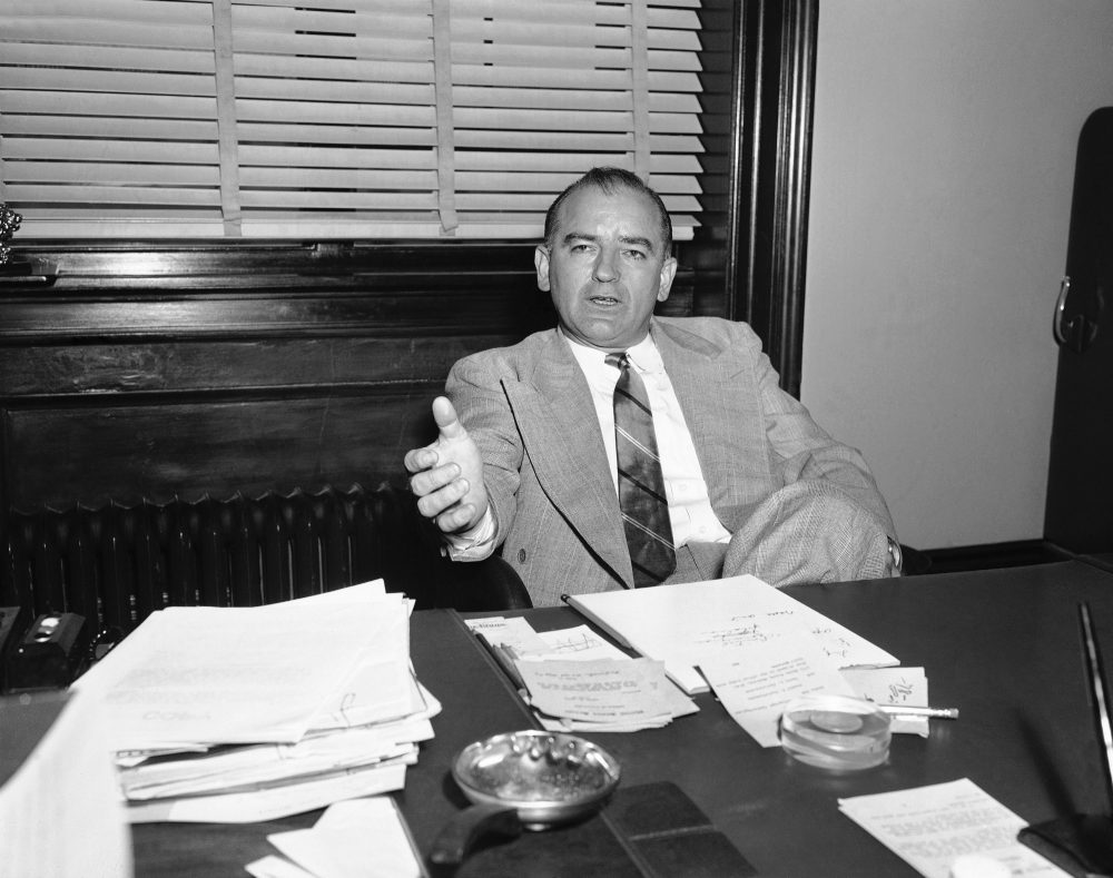 Sen. Joseph McCarthy pictured on April 13, 1953. (AP)