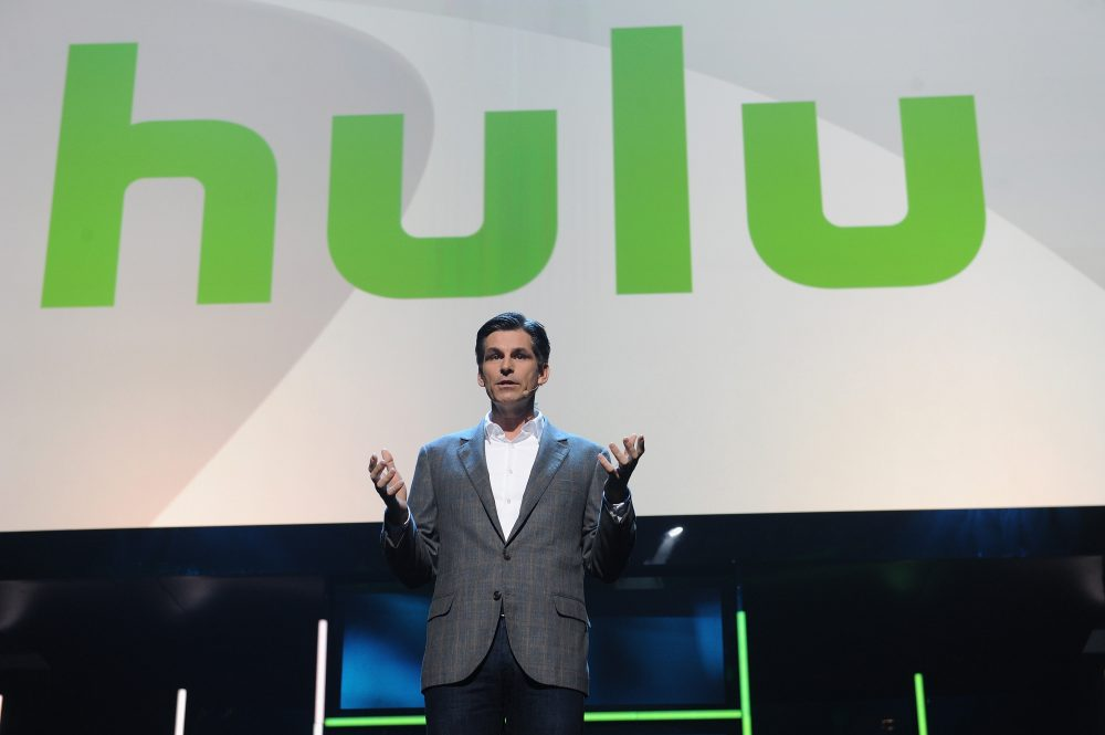 CEO of Hulu Mike Hopkins  speaks onstage at the 2015 Hulu Upfront Presentation at Hammerstein Ballroom on April 29, 2015 in New York City. (Craig Barritt/Getty Images for Hulu)