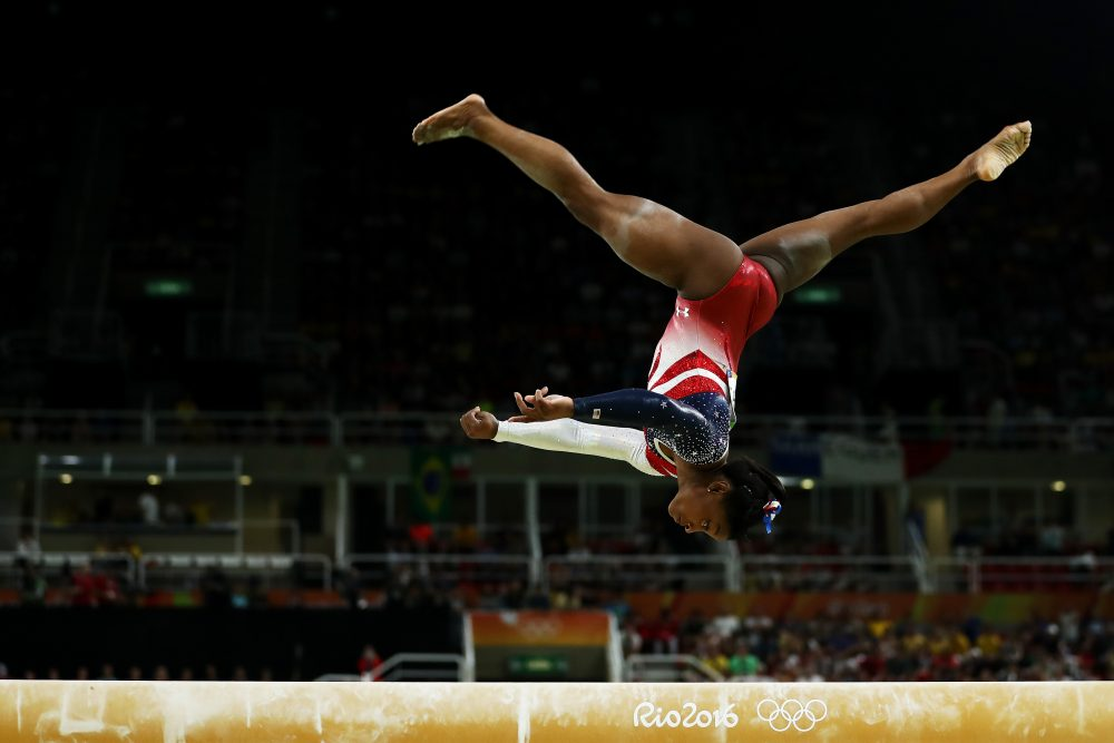 "Not even star gymnast Simone Biles earned a ""perfect 10"" in Rio 2016. Why? Because now there's no such thing. (Lars Baron/Getty Images)"