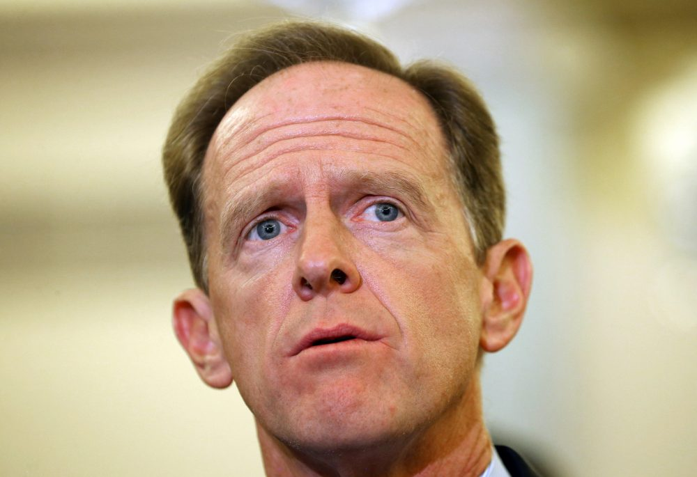 Sen. Pat Toomey (R-PA) speaks during a news conference on Capitol Hill, Sept. 9, 2014 in Washington, D.C. (Mark Wilson/Getty Images)