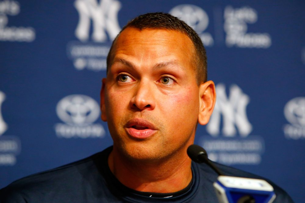 Alex Rodriguez speaks during a news conference on Aug. 7, 2016 at Yankee Stadium in New York City. (Jim McIsaac/Getty Images)