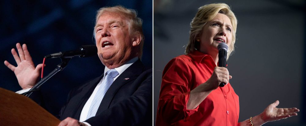 With less than three months in the 2016 presidential race, Mass. elected officials are sounding off on why they  support Trump or Clinton. (AP photos)