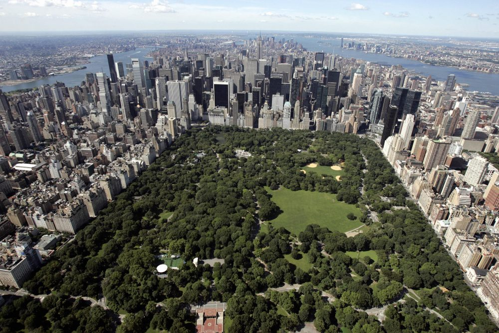 An aerial view of Manhattan looking south over Central Park on July 1, 2007 in New York City. (Stan Honda/AFP/Getty Images)