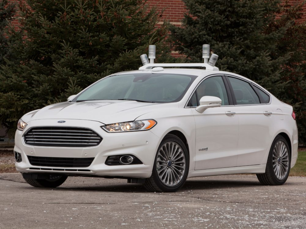 An autonomous Ford Fusion prototype. (Courtesy of Ford)