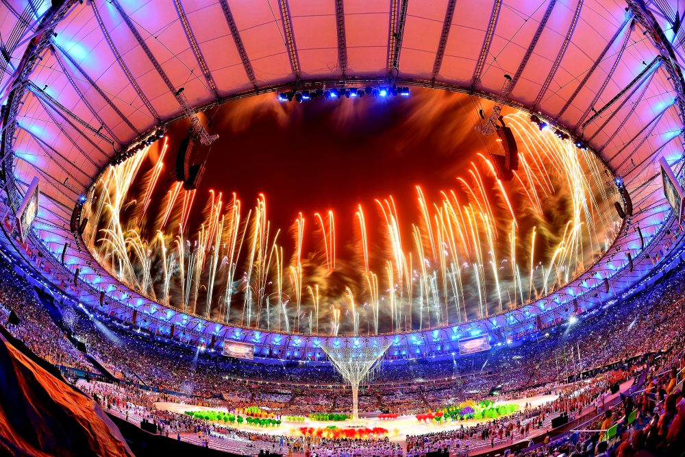 Fireworks explode above the Maracana Stadium at the end of the closing ceremony of the Rio 2016 Olympic games on Aug. 21, 2016 in Rio de Janeiro, Brazil. (Pascal Le Segretain/Getty Images)