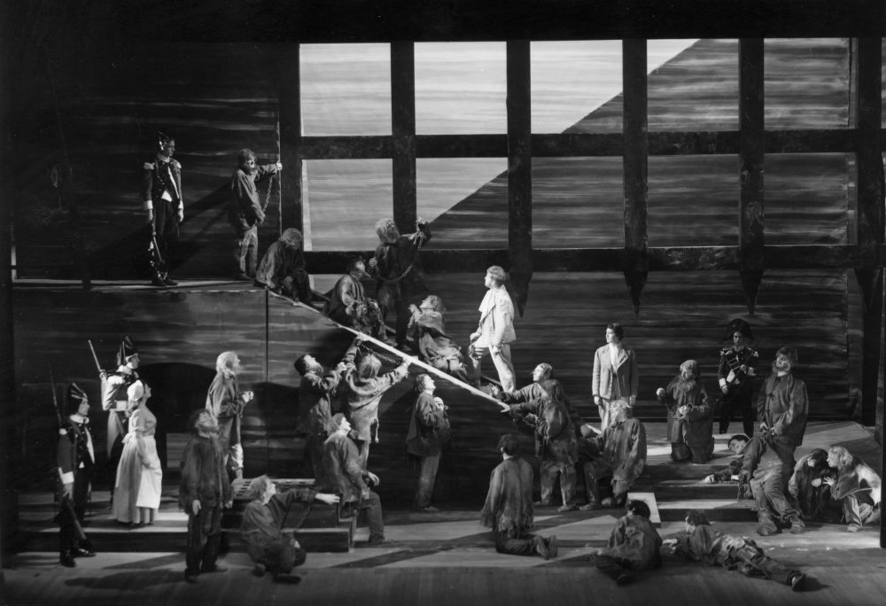 """A British opera company performing a stage production of Beethoven's """"Fidelio"""" at Sadler's Wells, London. (Denis De Marney/Getty Images)"""