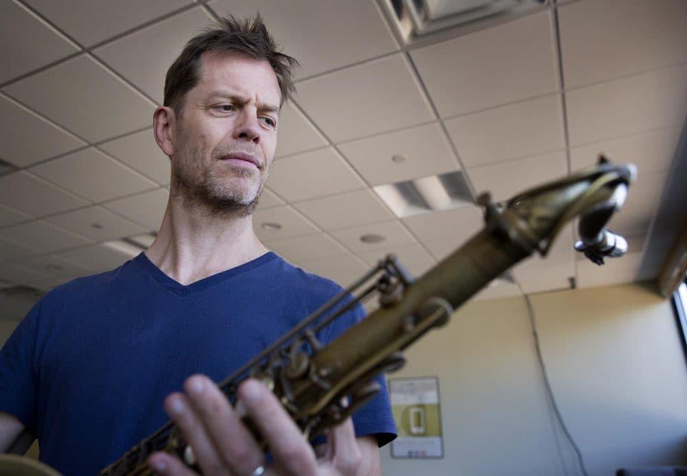 Saxophonist Donny McCaslin at WBUR. (Robin Lubbock/WBUR)