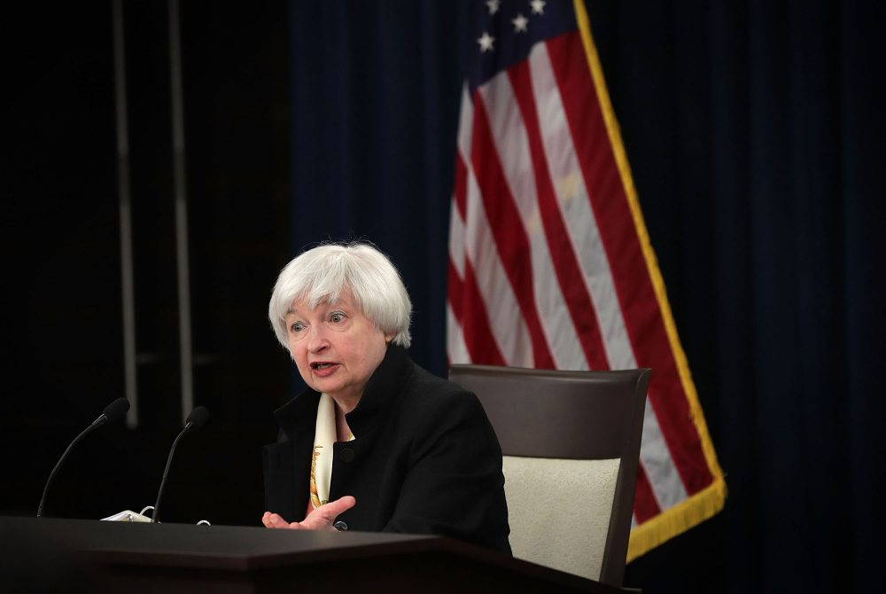 Federal Reserve Board Chair Janet Yellen speaks during a news conference June 15, 2016 in Washington D.C. (Alex Wong/Getty Images)
