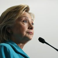 In this Thursday, Aug. 25, 2016 photo, Democratic presidential candidate Hillary Clinton is pictured at a campaign event at Truckee Meadows Community College, in Reno, Nev. (Carolyn Kaster/AP)