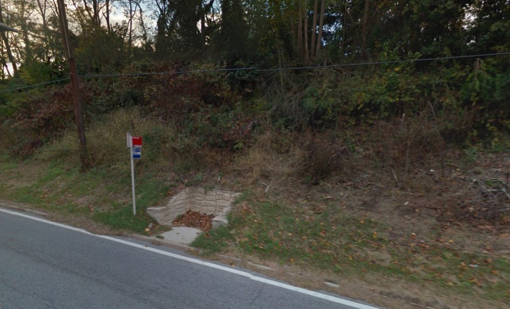 "A bus stop at the intersection of Route 29 and Crestmoor Drive in Silver Spring, Maryland. The stop was voted the country's ""sorriest bus stop,"" according to Streetsblog USA. (Google Maps)"