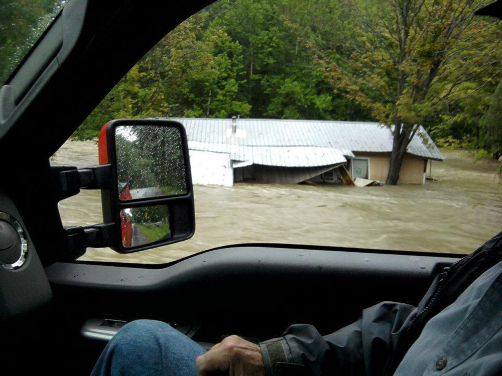 Evrita Crosby's trailer washed away when the Saxtons River flooded during Tropical Storm Irene. Vermont has come a long way in recovering from that storm, but there's still work to be done in preparing for the next one. (Courtesy Evrita Crosby)