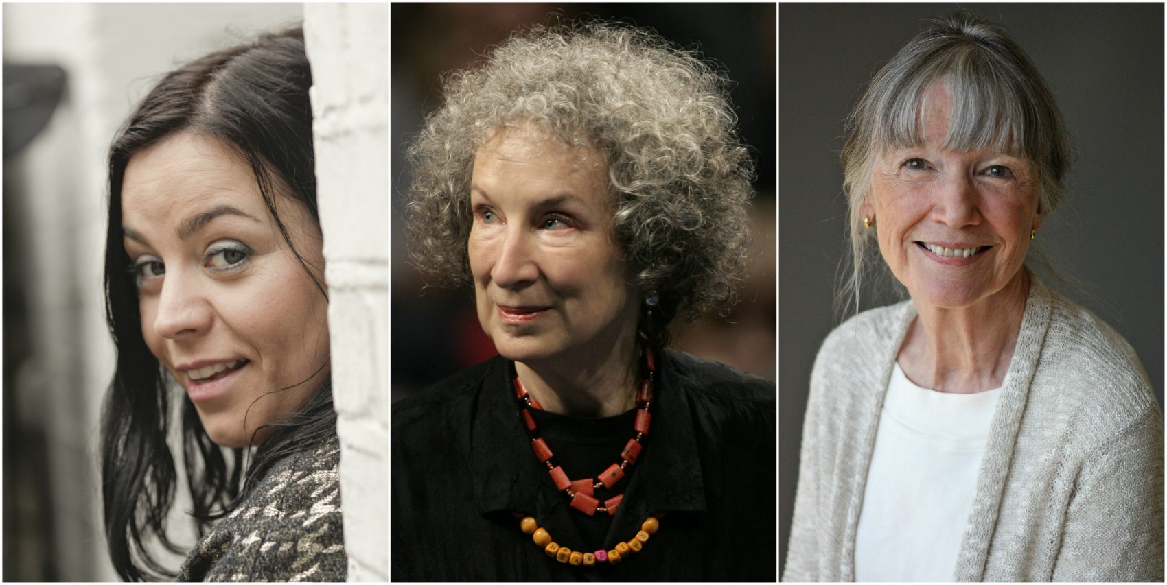 Jenni Fagan, Margaret Atwood and Anne Tyler. (Courtesy Urszula Soltys, Daniel Ochoa de Olza for AP, and Michael Lionstar)