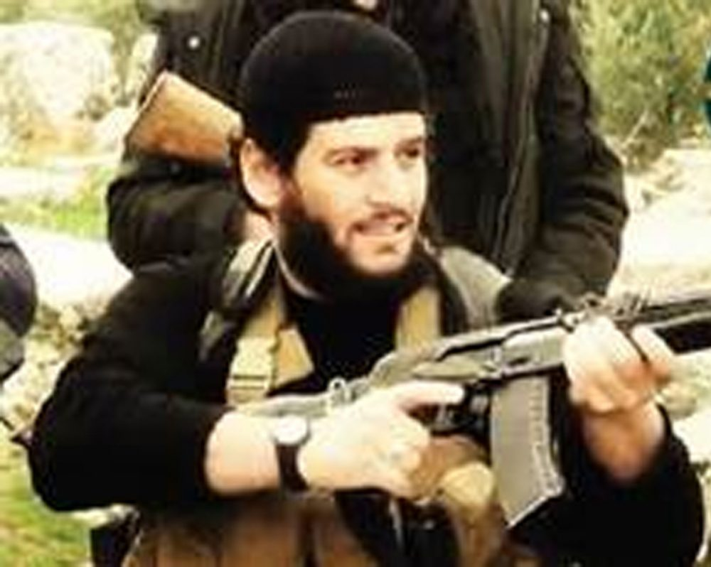 This undated militant image provided by SITE Intel Group shows Abu Muhammed al-Adnani, the Islamic State militant group's spokesman who was killed in Aleppo, Syria on Tuesday. (SITE Intel Group via AP)