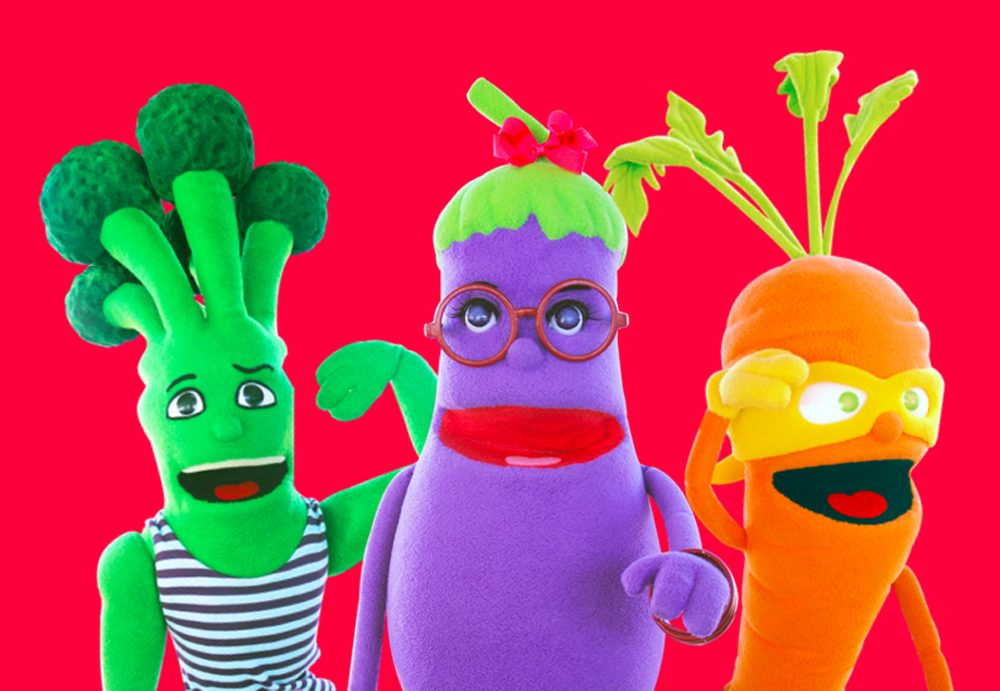 Super Sprowtz characters Brian Broccoli, Erica Eggplant and Colby Carrot. (Courtesy Super Sprowtz via Facebook)