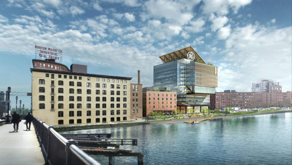 A rendering of GE's proposed headquarters in Boston (Courtesy of GE)