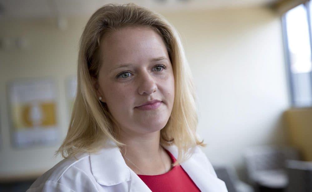 Dr. Elisabeth Poorman at WBUR. (Robin Lubbock/WBUR)